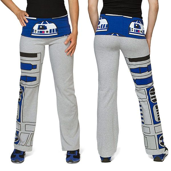 Turn your Yoga session into a celebration of all things Star Wars with these awesome Star Wars R2-D2 Ladies' Yoga Pants. Let R2 be your co-pilot as you get in shape and pose. These pants feature R2's dome front and cent