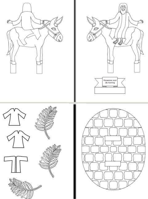 hosanna voor de koning palmpasen bijbelknutselwerk