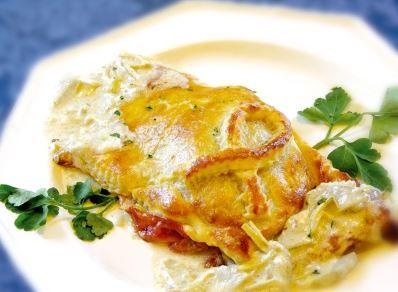 Filetto in crosta con Prosciutto di Parma e salsa di carciofi