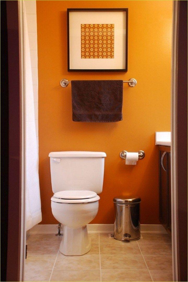 39 Beautiful Bold Bathroom Color Ideas Let S Diy Home Orange Bathroom Decor Bathroom Design Small Modern Popular Bathroom Colors