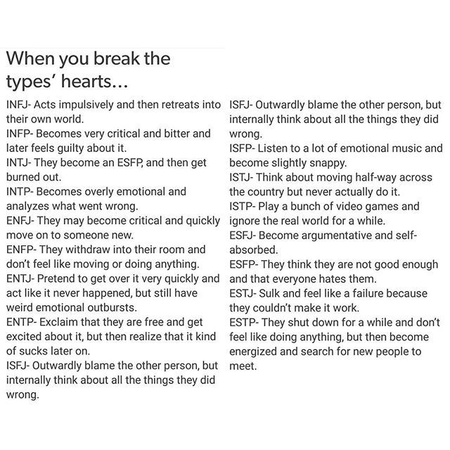 ENTJ - Holy fucking shit fuck. How fucking accurate is this?!  :O :O :O MBTI - when you break the types' hearts. ENTJ