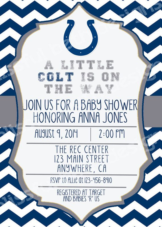 COLTS BABY SHOWER Colts Baby Shower by BlissfulBethDesigns on Etsy