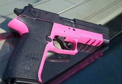 womens guns | pink and black hand gun Designer Guns