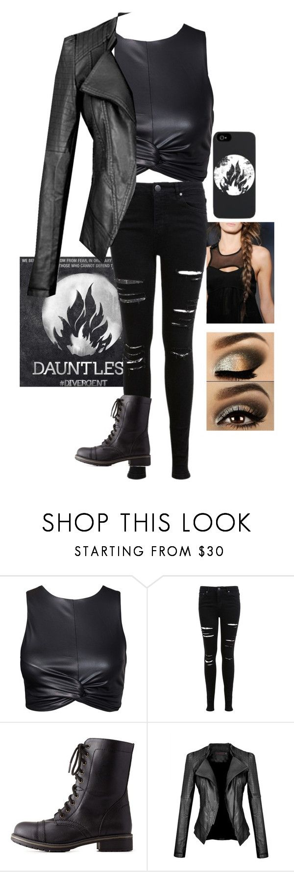 """""""Dauntless Outfit"""" by sparklypinkelephant ❤ liked on Polyvore featuring Miss Selfridge and Charlotte Russe"""