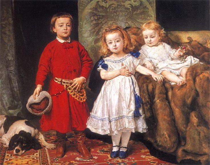 Portrait of three children - Jan Matejko