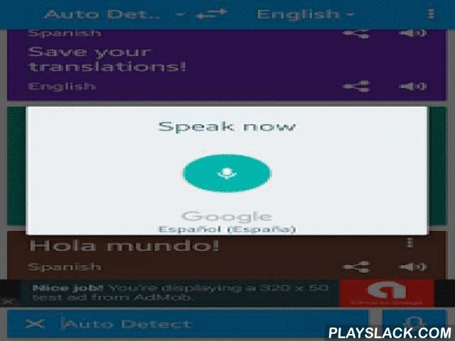 Translate Voice - Translator  Android App - playslack.com ,   Translate in voice - Language Translator  Awesome voice translator, speech and translates all languages of the world. You can hold a conversation in any language , with the help of voice translator, translating different texts and use the button to talk application. Learn languages quickly and easily, speaks your language to translate written or spoken of in the language of your choice , more than 80 languages in 44 languages…