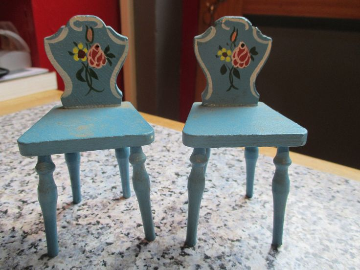 vintage * DORA KUHN * 2 x DINING CHAIRS - 12th scale | eBay