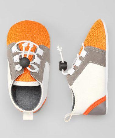 This White & Orange Sneaker is perfect! #zulilyfinds