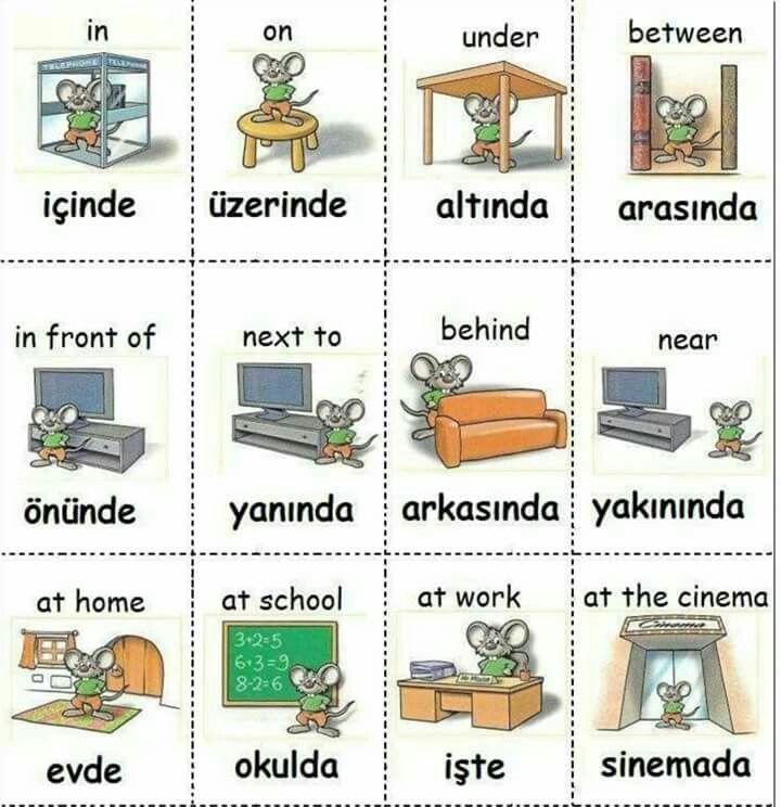 ENGLISH TURKISH