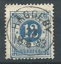 Sweden 12ö, postmarked Häggeby 22 june 1883