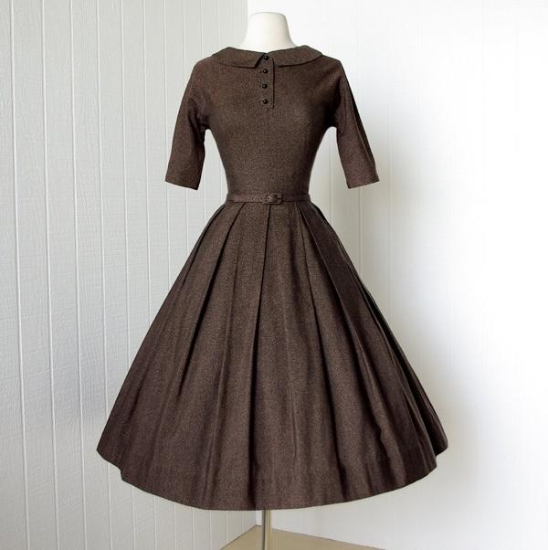 Vintage 1950's dress by Lanz of Salzburg.