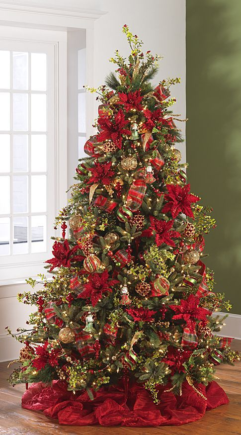 25 best ideas about christmas trees on pinterest for Red and yellow christmas tree