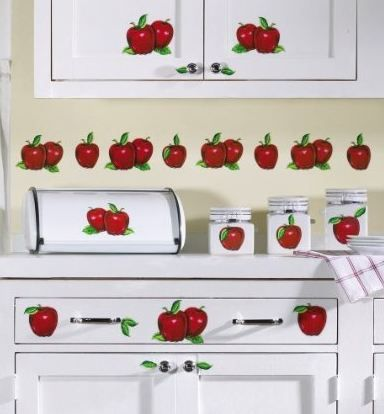 apple decals for kitchen | Apple Decor Stick-on Kitchen Decals by Collections Etc