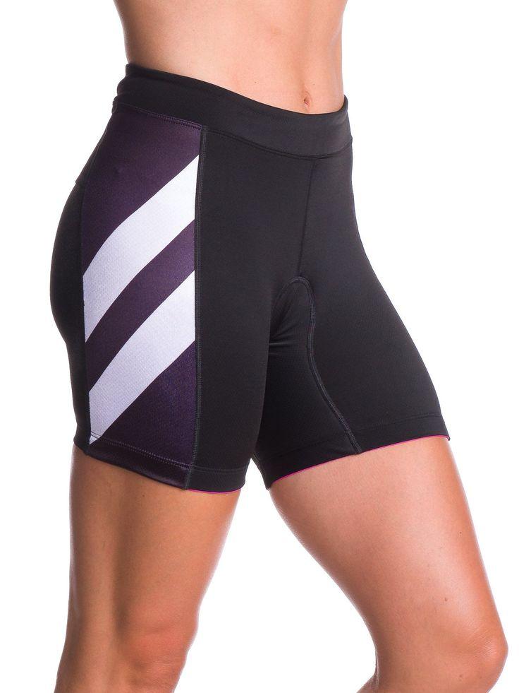 "Zele 5"" Women's Aero Triathlon Shorts - Black and White"