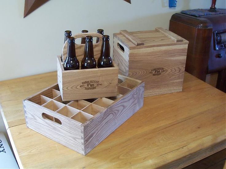 another example  Wooden 6-pack, 12-pack, 24-pack holders - Home Brew Forums
