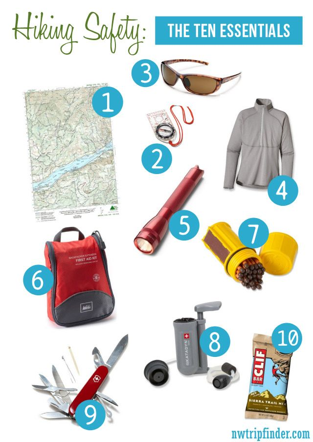 "Before you go hiking this weekend review these Hiking Safety Tips and pack the ""Ten Essentials"""