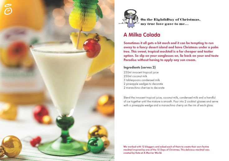 On the Eighth Day of Christmas, my true love gave to me...A Milka Colada