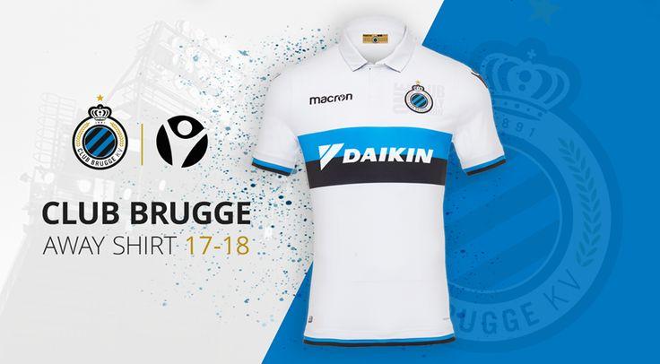 Camisas do Club Brugge 2017-2018 Macron