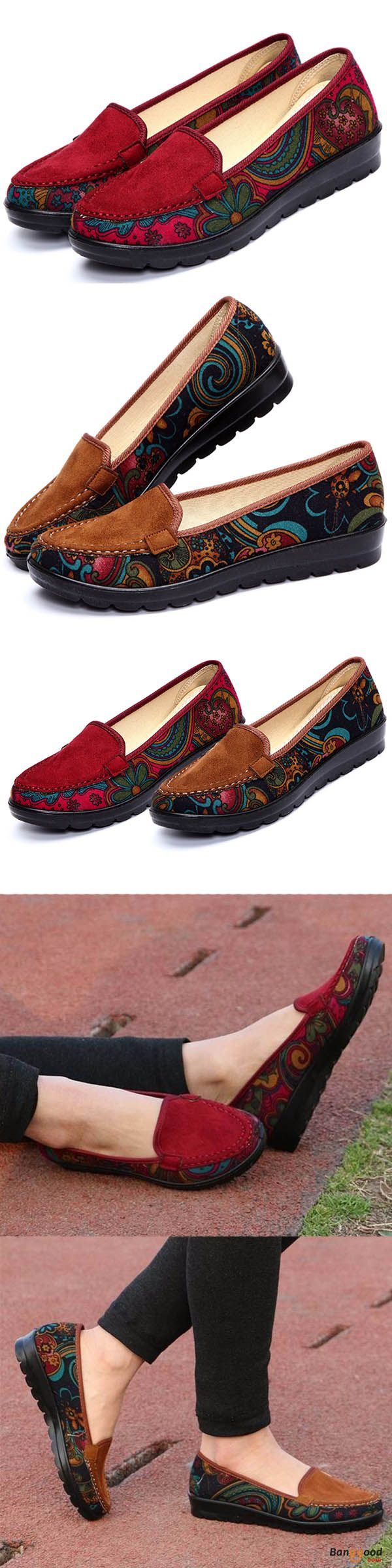US$22.43 + Free shipping. Women Casual Flat Loafers Slip-on Breathable Shoes Soft Sole Shoes. US Size:5-11. Red or Brown? >>> To view further, visit now.