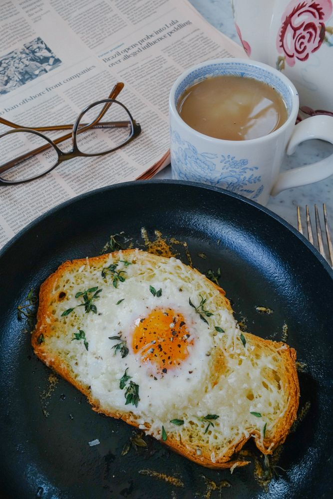 Truffle Parmasan Egg in A Hole-1