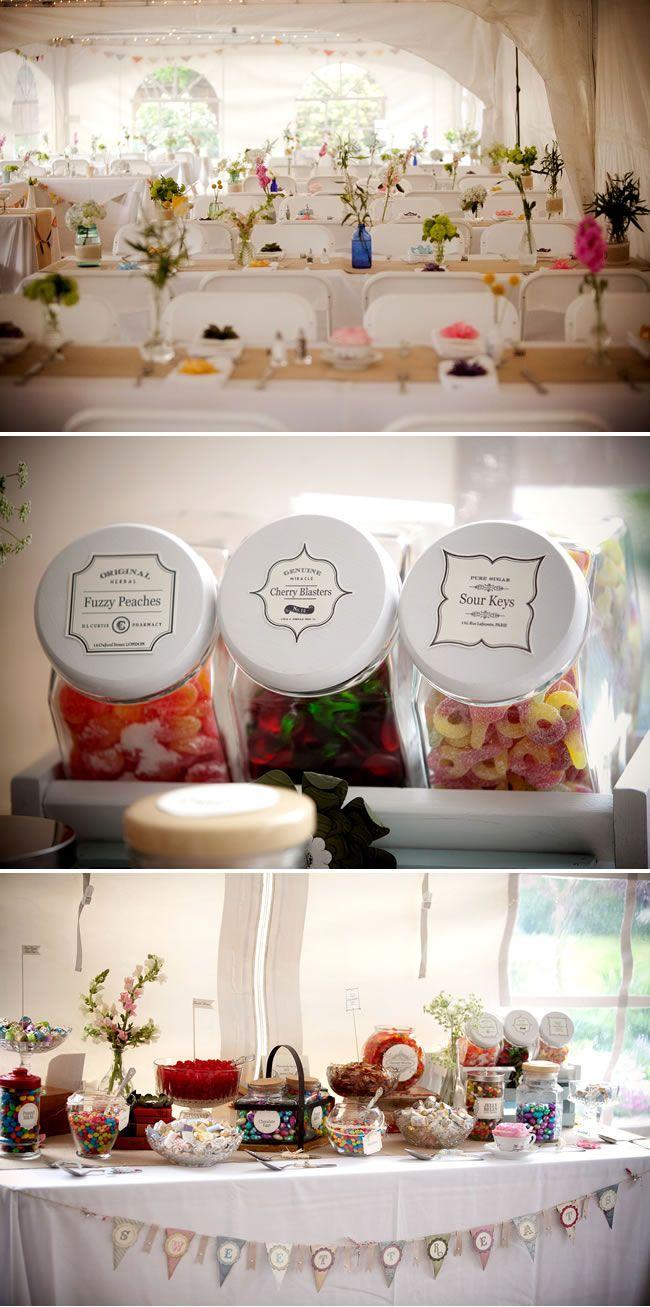 Gotta love a good candy bar – #wedding idea