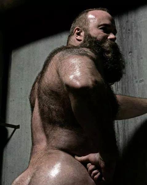 Big hairy butt