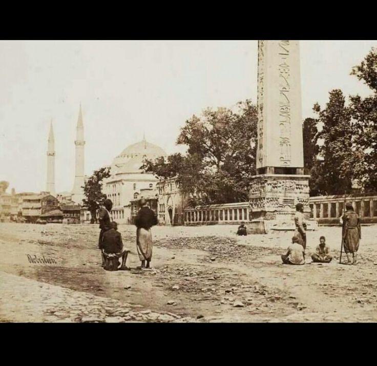 Sultanahmet 'den Ayasofya. Yıl. 1855.