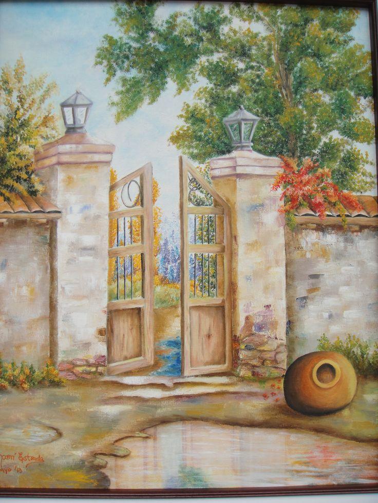 Colecci n casas antiguas t cnica oleo sobre tela titulo - Cuadros de casas de campo ...