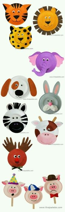 Animals paper plate crafts
