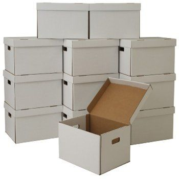 Low cost Low cost Shifting Packing containers 16 x 12.5 x 10 Inches Storage/File Packing containers with Hooked up Lid Set of 12 Bins, White (SNWK) Our fie