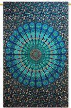 "Handicrunch indische Mandala Katoen Tapisserie Wandbehang Dekor Hippie Wandteppiche 84 ""x 56"""