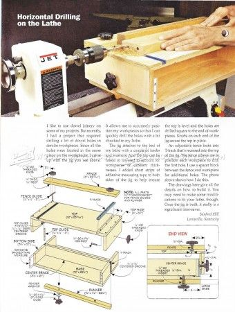 #159 Horizontal Drilling on the Lathe - Lathe Tips, Jigs and Fixtures