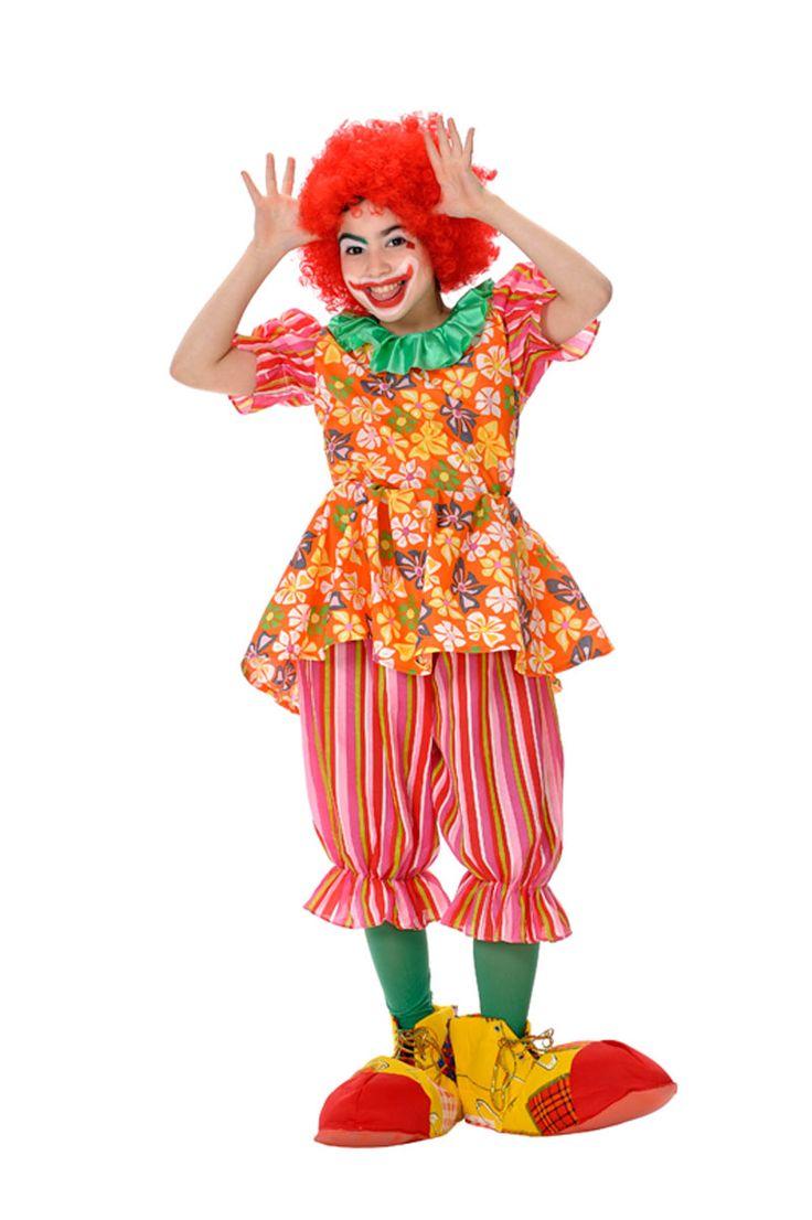 DisfracesMimo, disfraz de payasa niña varias tallas. Este comodísimo traje es perfecto para carnavales, espectáculos, cumpleaños.Este disfraz es ideal para tus fiestas temáticas de disfraces de payasos del circo,bufones y arlequines infantiles.