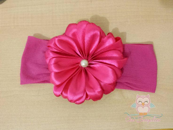 tiara de fita de cetim
