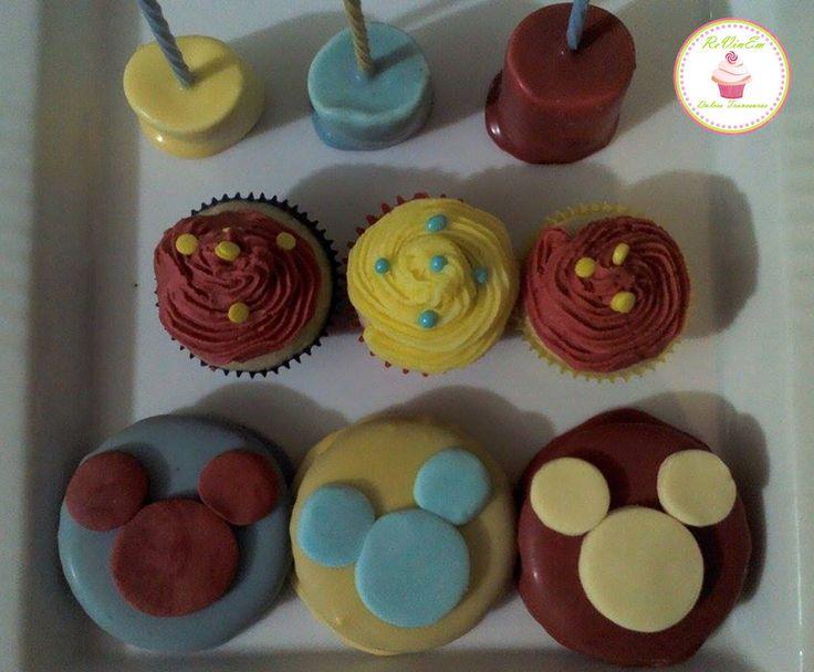 marshpop´s mini cupcakes alfajores con figura