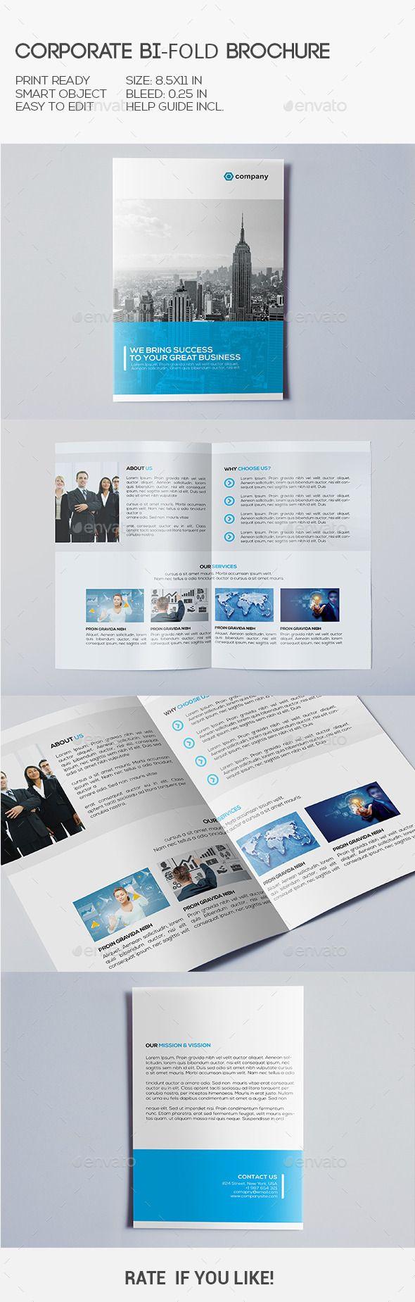 Corporate Bi-Fold Brochure Template Design #brochure #bifold Download: http://graphicriver.net/item/corporate-bifold-brochure/10451666?ref=ksioks