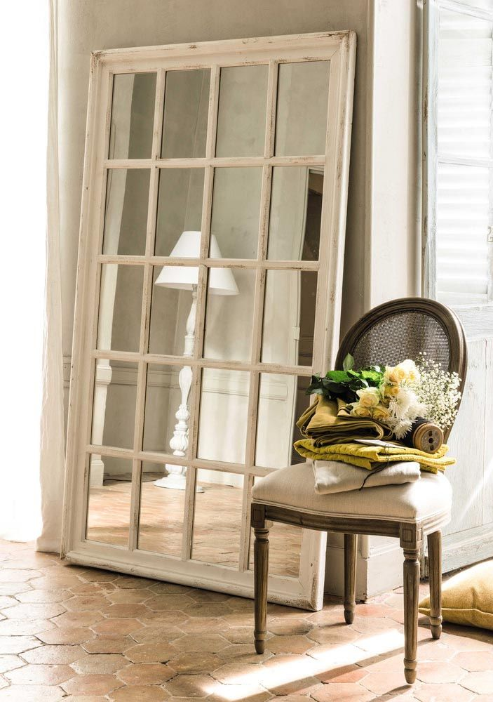 St Martin Wooden Window Mirror In White Maisons Du Monde Mirror Dining Room Window Mirror Wooden Windows