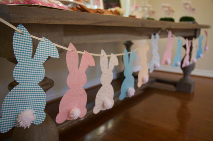 #bunnybanner #pompoms #firstbirthday #handmade #diy #artsandcrafts #birthdayparty