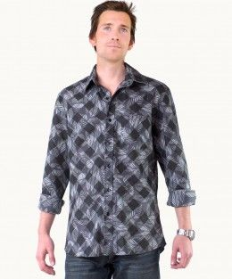 Eagle Feather Long Sleeve Shirt A$69.00  Creating a new look with a classic check, this stylish Eagle Feather shirt is bound to turn heads! The smart black and charcoal check is bias cut for a great fit, and the dark colours are slimming and flattering on all body types.