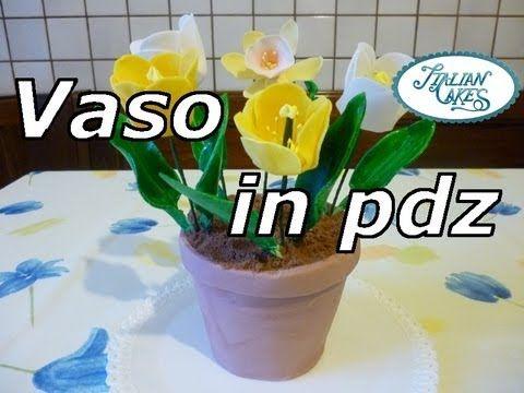 Torta decorata vaso di fiori (flowers vase cake) by italiancakes