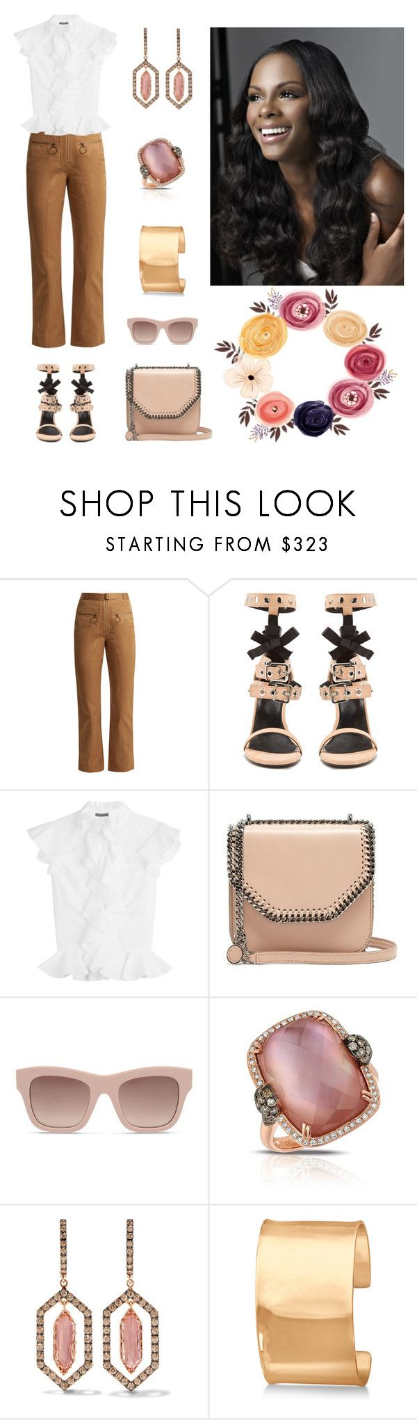 """""""Happy Day"""" by karen-galves ❤ liked on Polyvore featuring self-portrait, Robert Clergerie, Alexander McQueen, STELLA McCARTNEY, Marco Moore, Larkspur & Hawk and Allurez"""