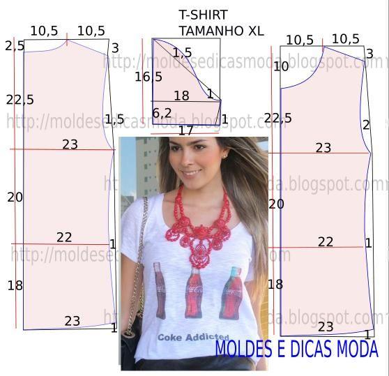 Convém relembrar que o molde de t-shirt personalizada não tem valor de costura tem que ser acrescentado. Corte e costura de t-shirt personalizada.