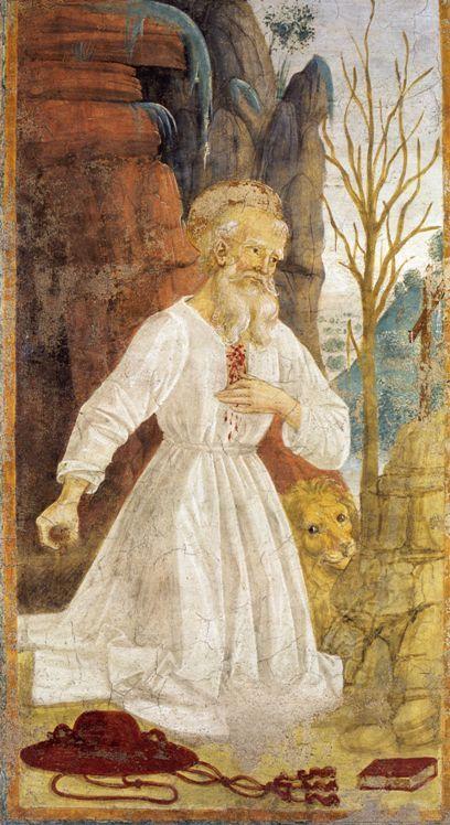 Пьетро Перуджино. Святой Иероним и лев