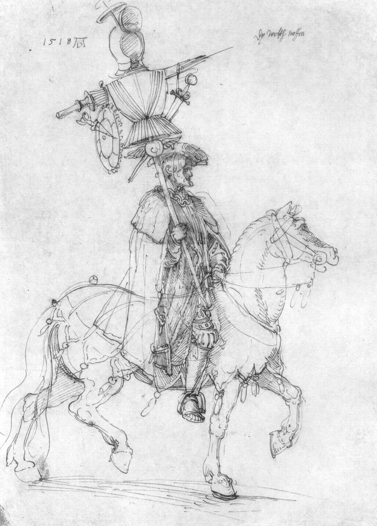 Artist: Dürer, Albrecht, Title: Der große Triumphwagen, Detail: Die welsche Trophäe [1], Date: 1518