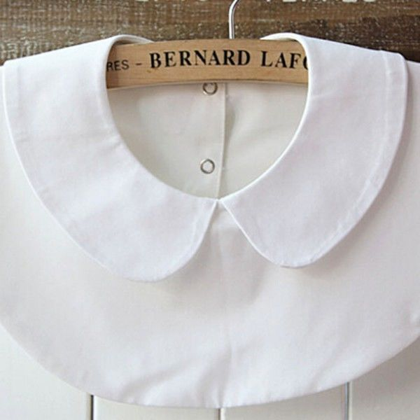 элегантный женщин съемная Питер Пен лацкан рубашка поддельные ложные ошейник ошейник ожерелье