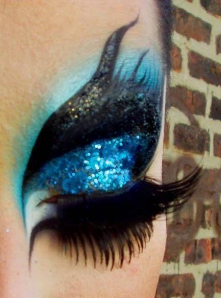 Resultado de imagen de maquillaje pavo real