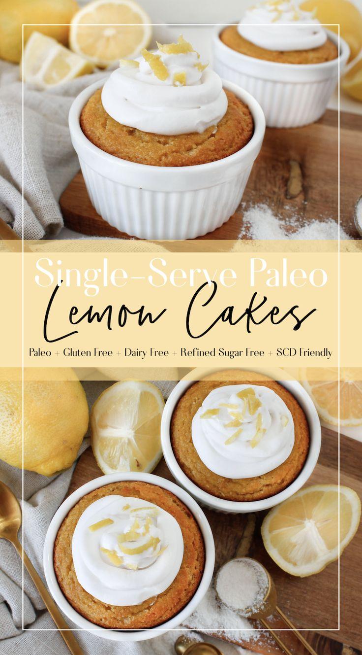 SingleServe Paleo Lemon Cake Recipe Paleo lemon cake