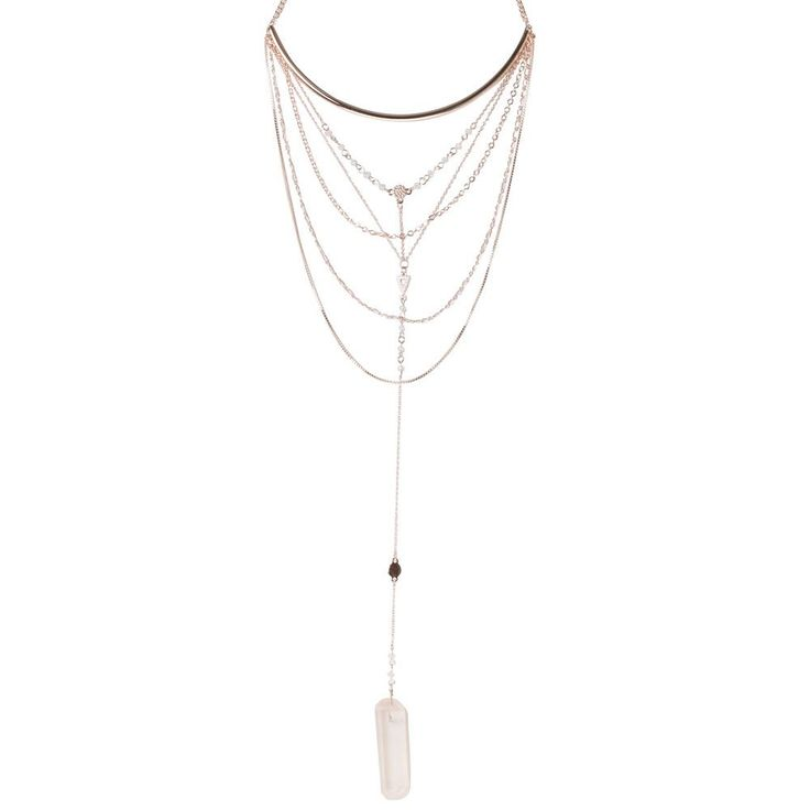 THIS LONG ROSE GOLD TORQUE AND MULTI LAYERED NECKLACE IS THE PERFECT ADDITION TO YOUR FESTIVAL STYLE.