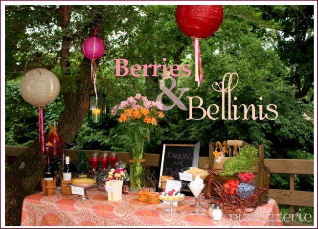 BERRIES & BELLINIS BIRTHDAY PARTY!: Cupcakes Skewers, Bellinis Birthday, Berries Bliss, Goddesses Parties, Birthday Parties, Berries Cobbler, Parties Ideas, Bellinis Parties, Bellinis Favorite