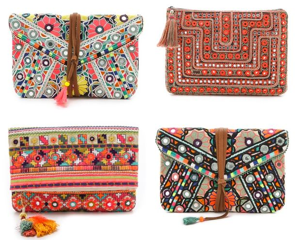 Boho bag to jazz up a minimalist outfit. So summery!